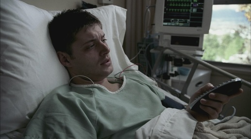 Dean in the hospital with heart damage