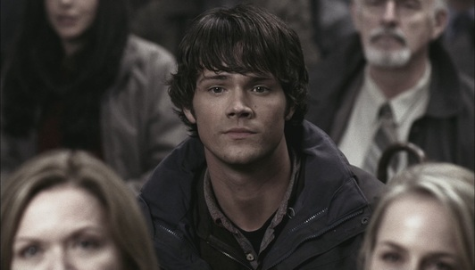 Sam notices the cross on the altar